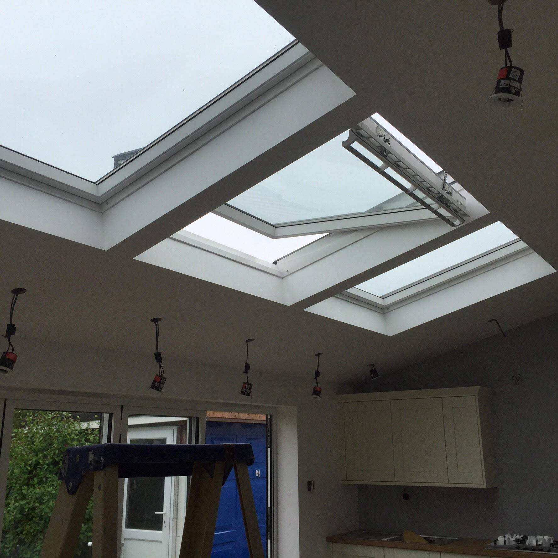 Rear Kitchen Extension With Vaulted Ceiling Design The Craft Carpentry Co